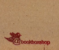 Twitter Stamp on Cardboard for the Book Box Shop