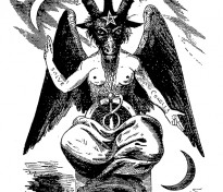 Baphomet, idol worshipped by the Illuminati