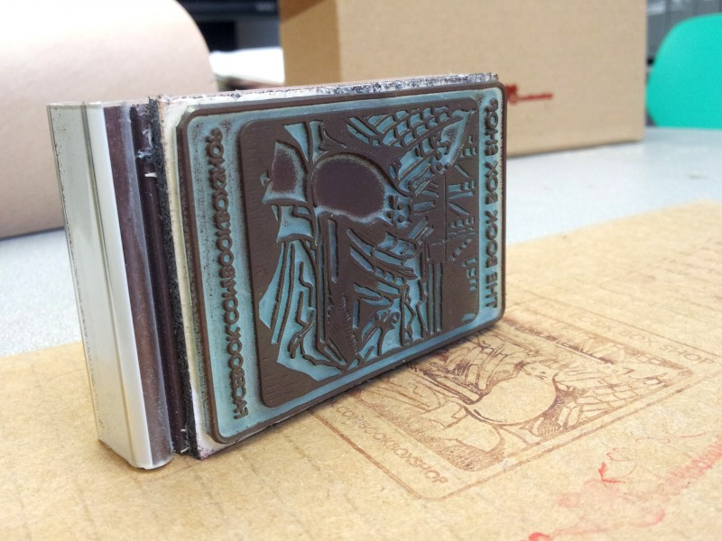 Rubber Stamp for Book-Box Packaging