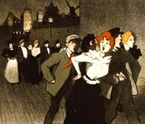Toulous Lautrec Illustration of Chat Noir Patrons