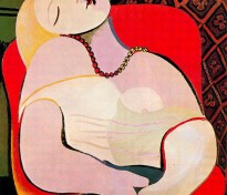 """Picasso's oil painting, """"Le Reve"""" 1932"""
