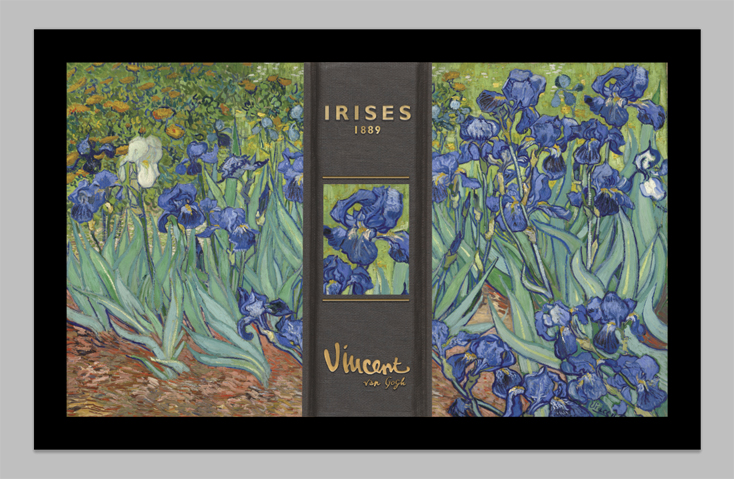 Book Box with Iris by Van Gogh